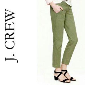 J. Crew Cafe Capri Olive Green Cropped Pants